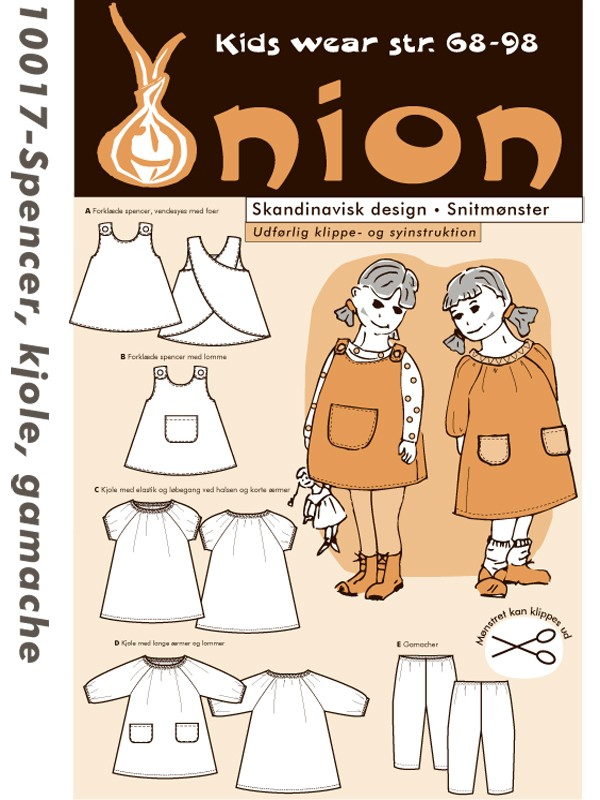Onion 10017 - Spencer, kjole og tights (baby)