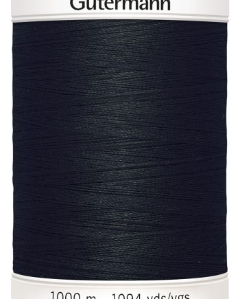 Gutermann No. 100 -Alle stoffers tråd- 1000 M farge 000